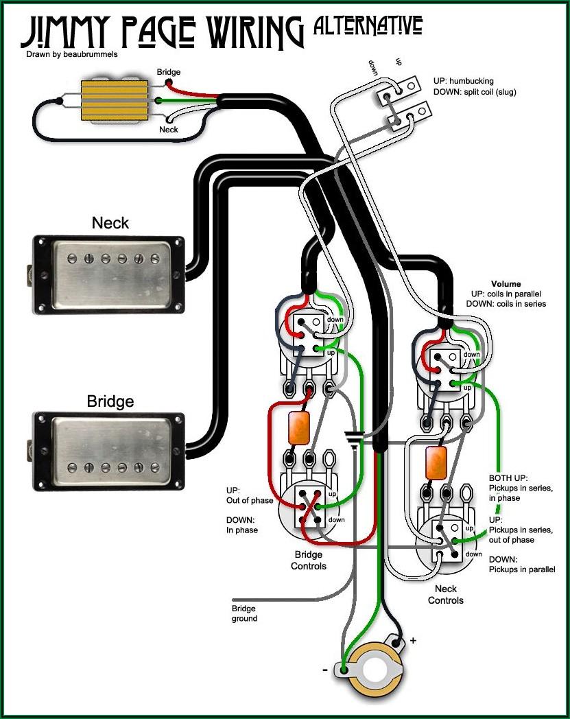 Electric Guitar Pickups Circuit Diagram