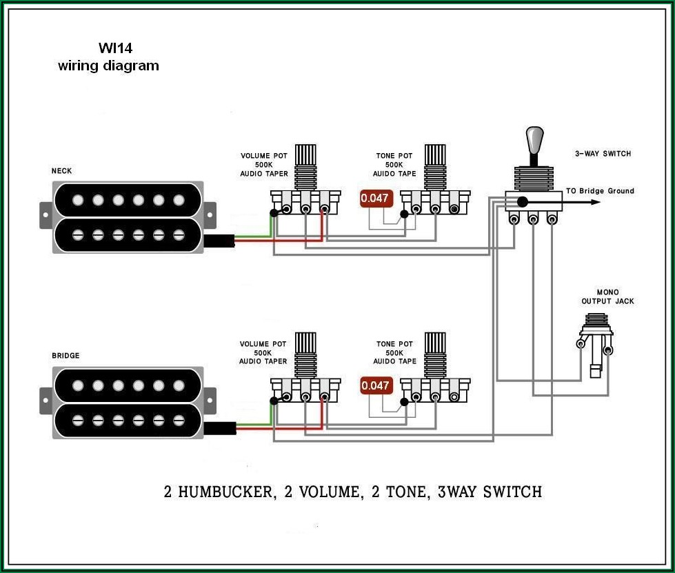 Electric Guitar Wiring Schematic