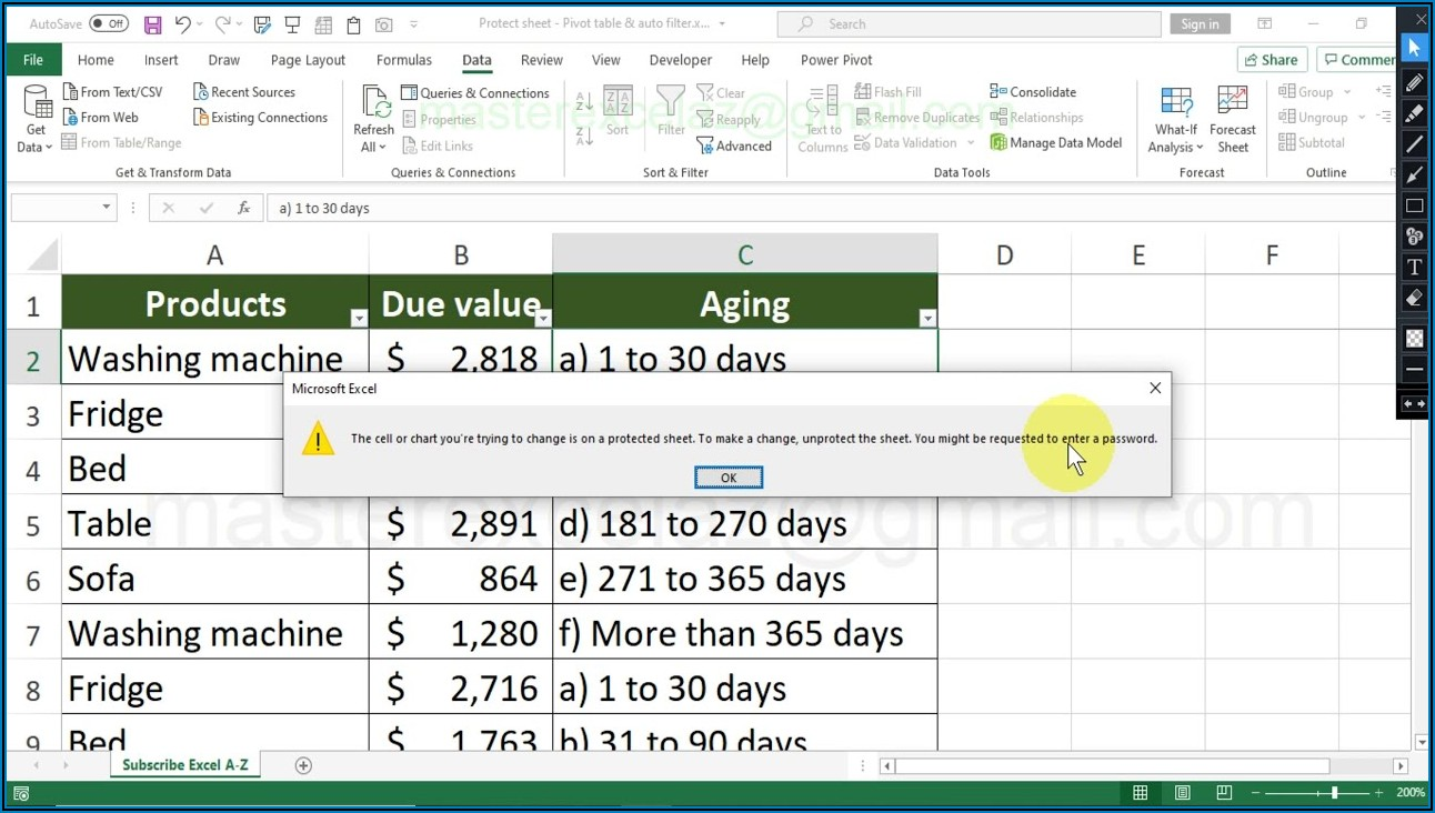 Excel Vba Clear Filter Protected Sheet