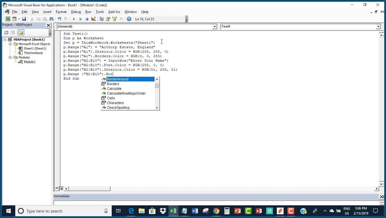 Excel Vba Set Active Worksheet To Variable