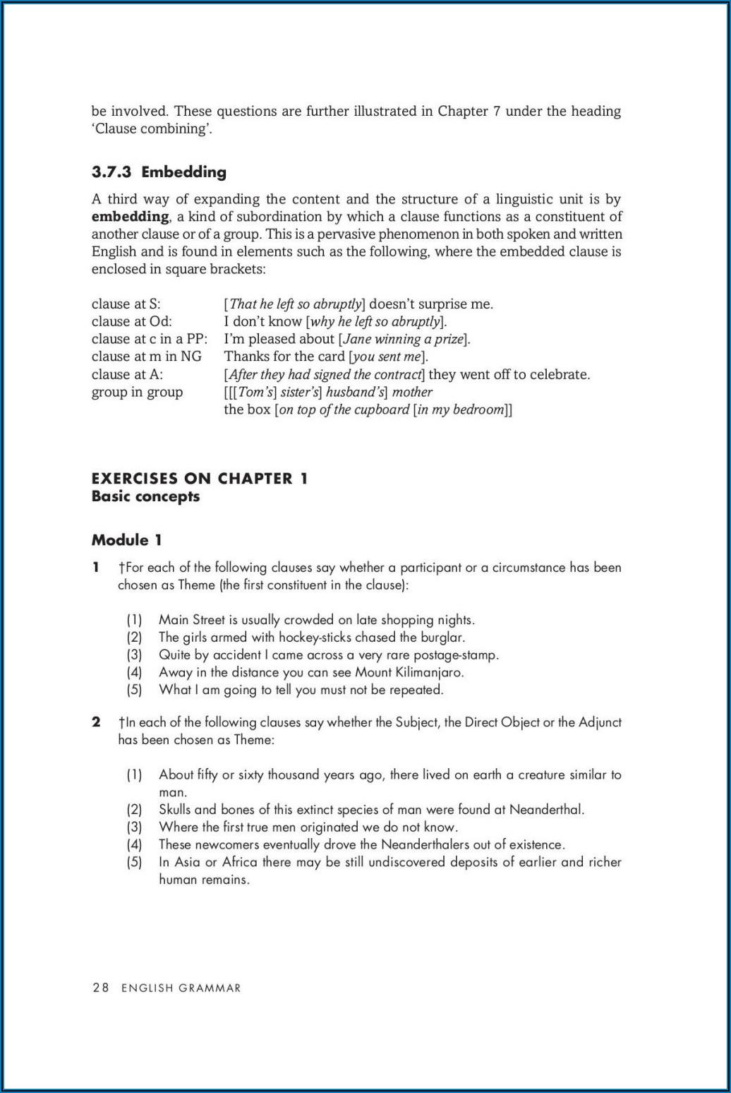 Fifth Grade Grade 5 English Grammar Worksheets