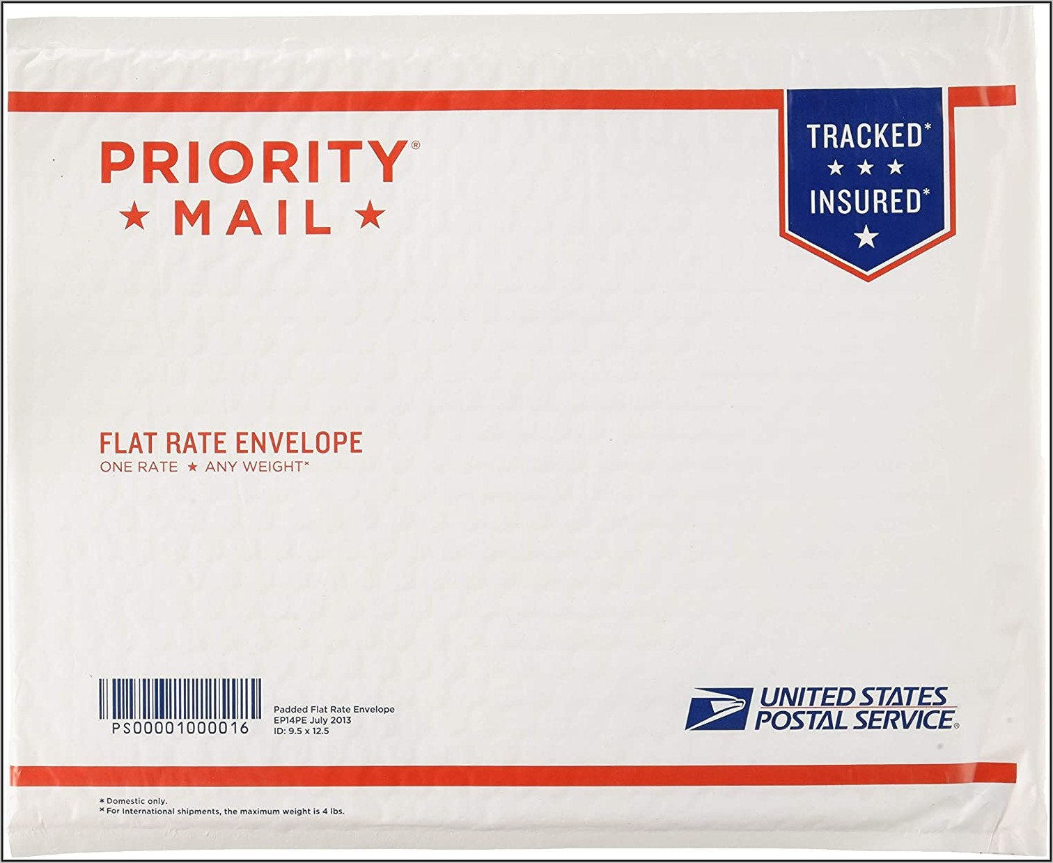 First Class Mail International Retail Large Envelopes (flats)