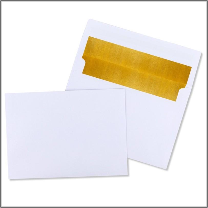 Foil Lined Invitation Envelopes A7