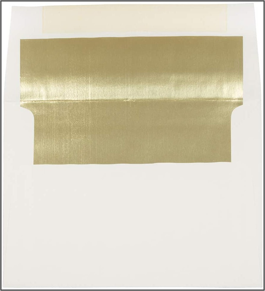 Foil Lined Invitation Envelopes