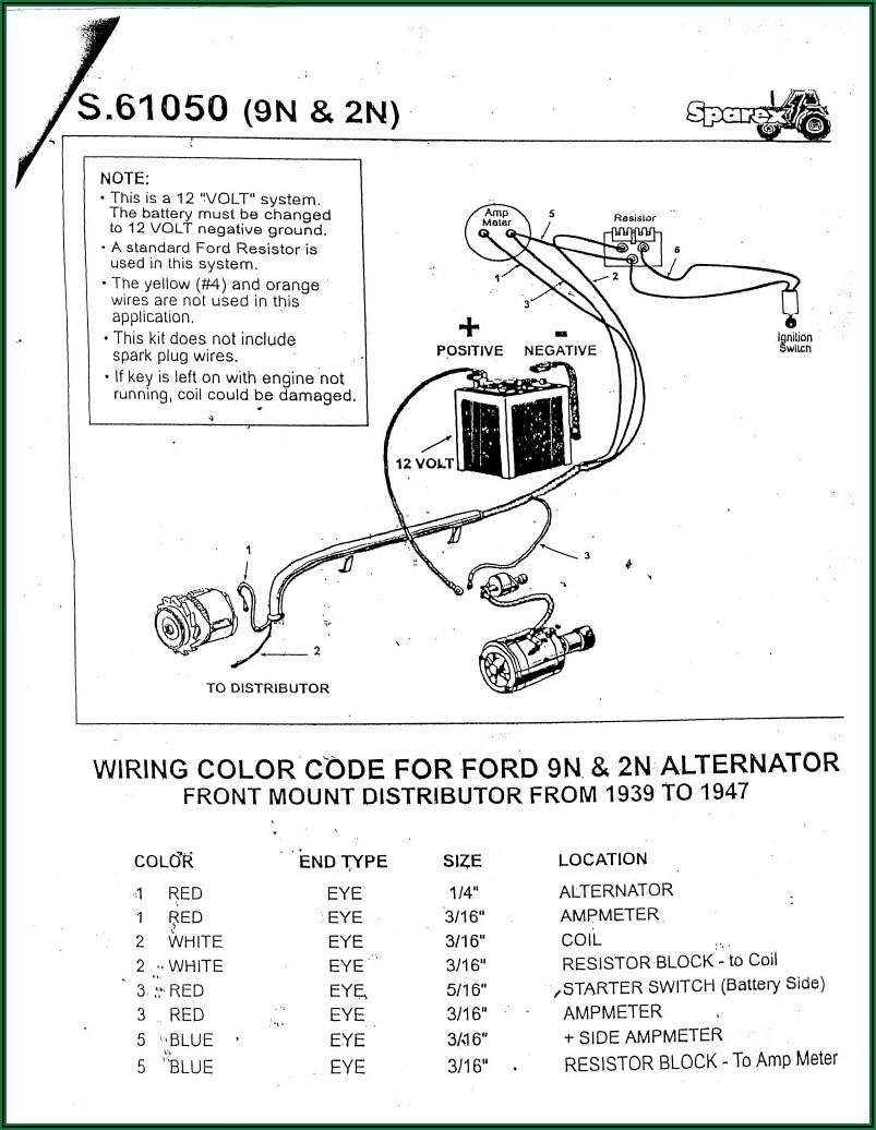 Ford 8n 12 Volt Alternator Wiring Diagram