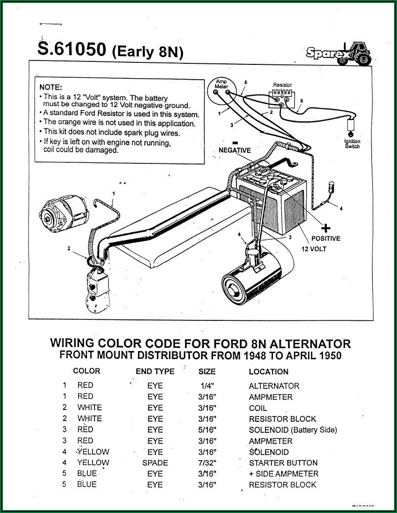 Ford 8n Tractor Ignition Switch Wiring Diagram