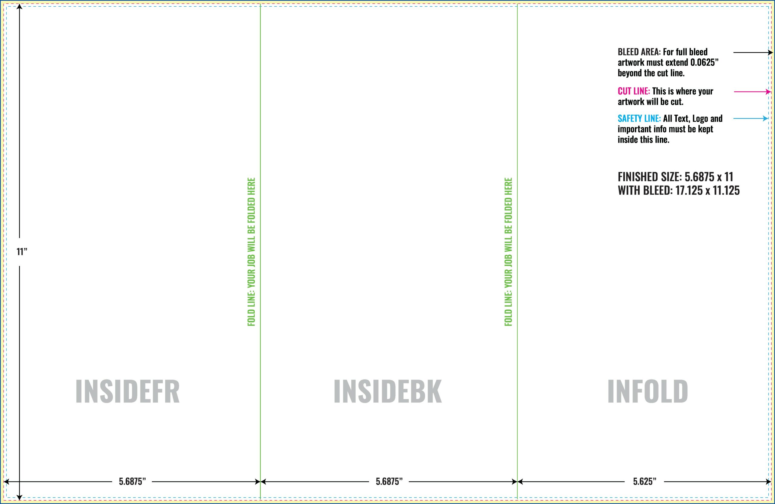Free Adobe Illustrator Tri Fold Brochure Templates