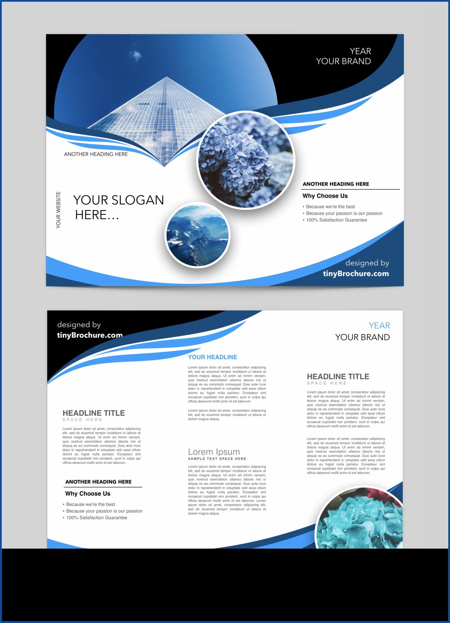 Free Bifold Brochure Templates For Microsoft Word