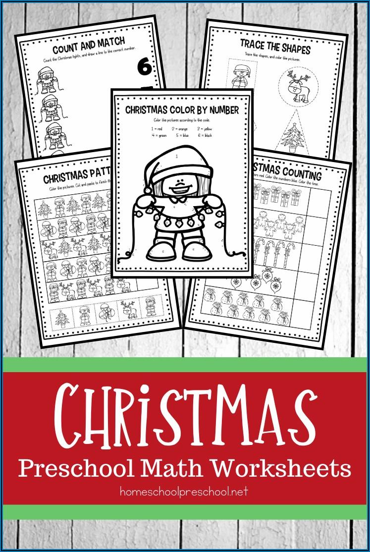 Free Christmas Math Worksheets For Preschool