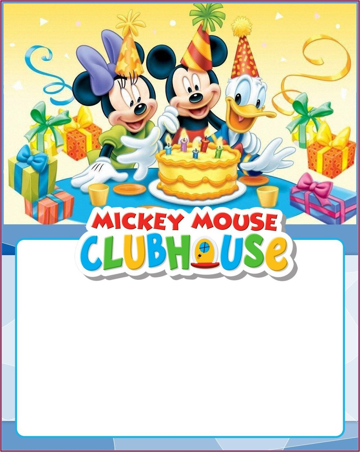 Free Mickey Mouse Clubhouse Invitations