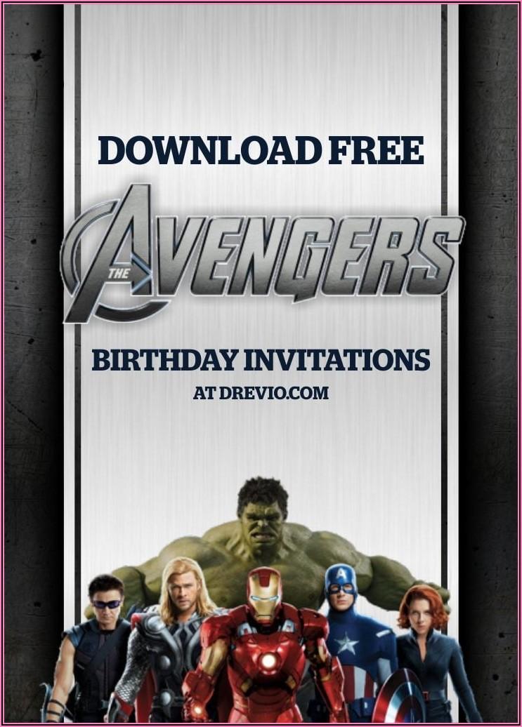 Free Online Avengers Birthday Invitations