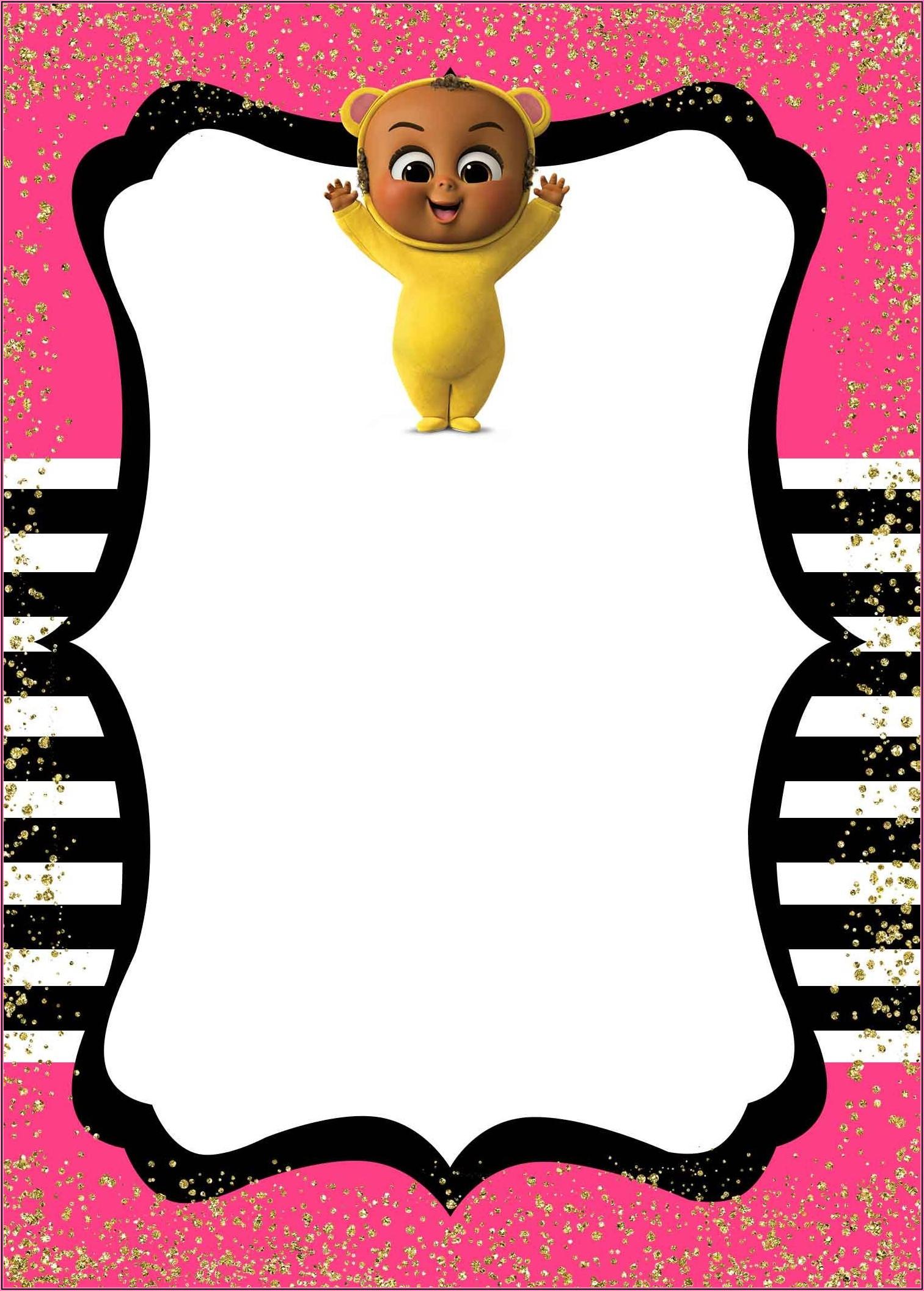 Free Printable Boss Baby Girl Invitations