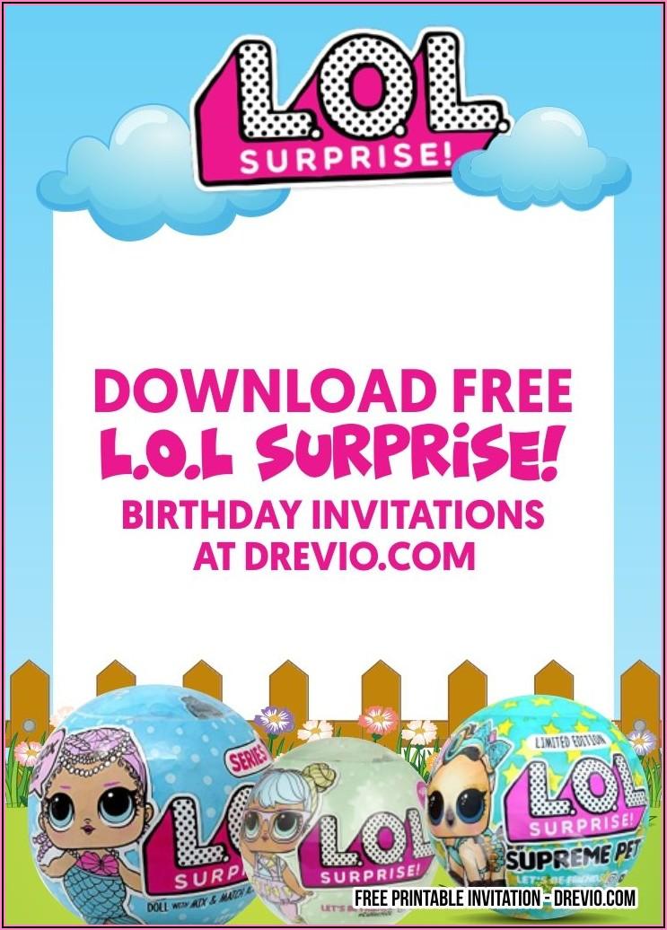 Free Printable Lol Surprise Doll Birthday Invitations