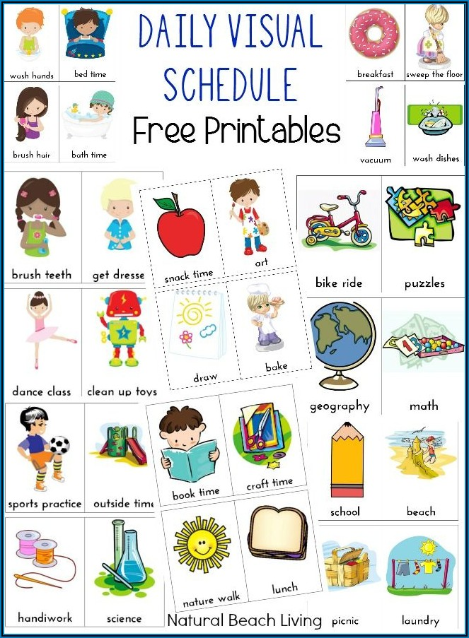 Free Printable Preschool Daily Schedule Pictures