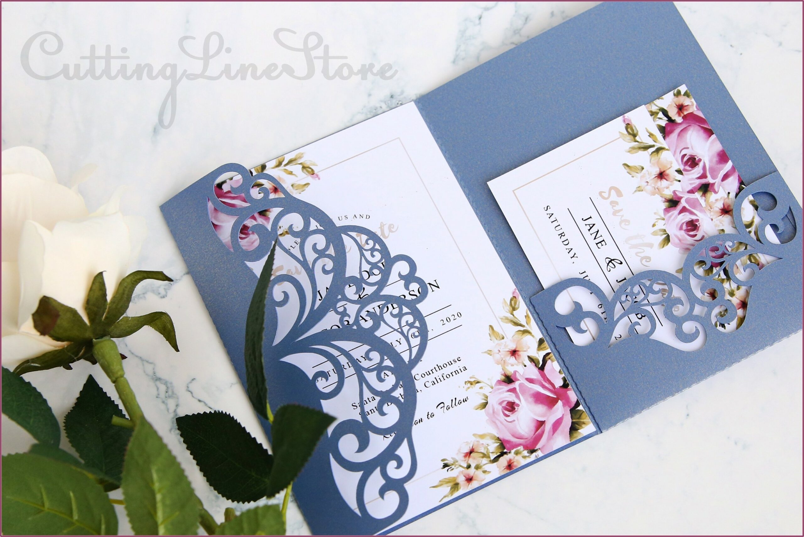 Free Wedding Invitation Belly Band Template