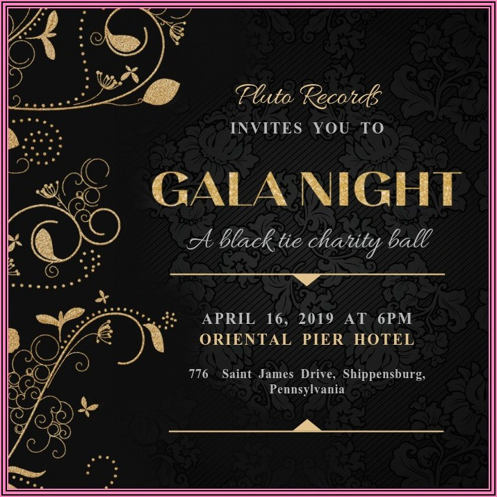 Gala Dinner Invitation Card Template