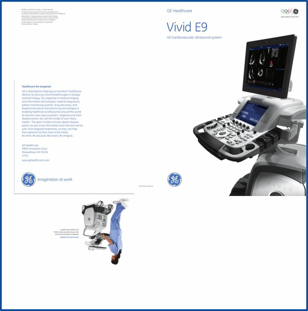 Ge Vivid E9 Brochure