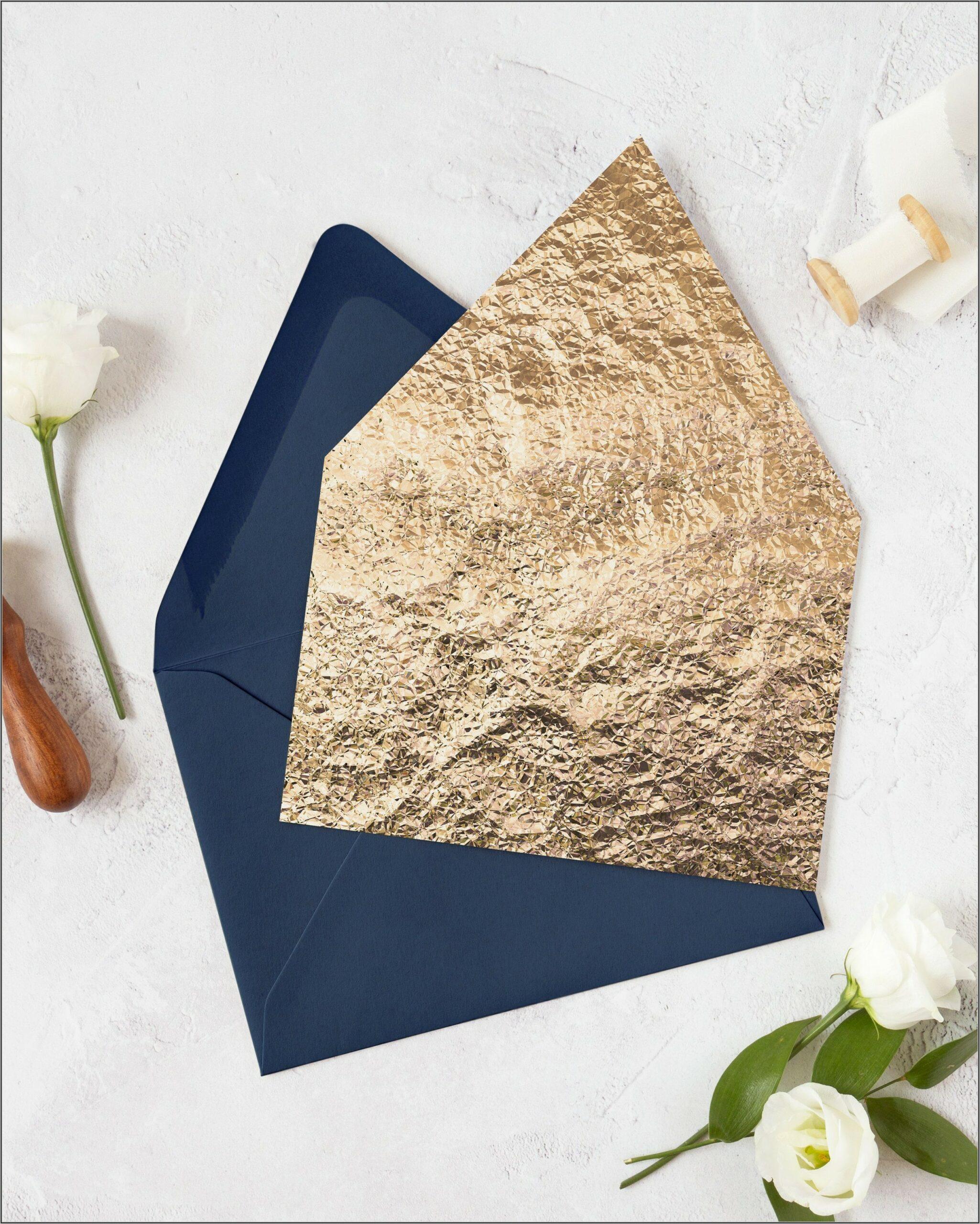 Gold Foil Envelope Liners