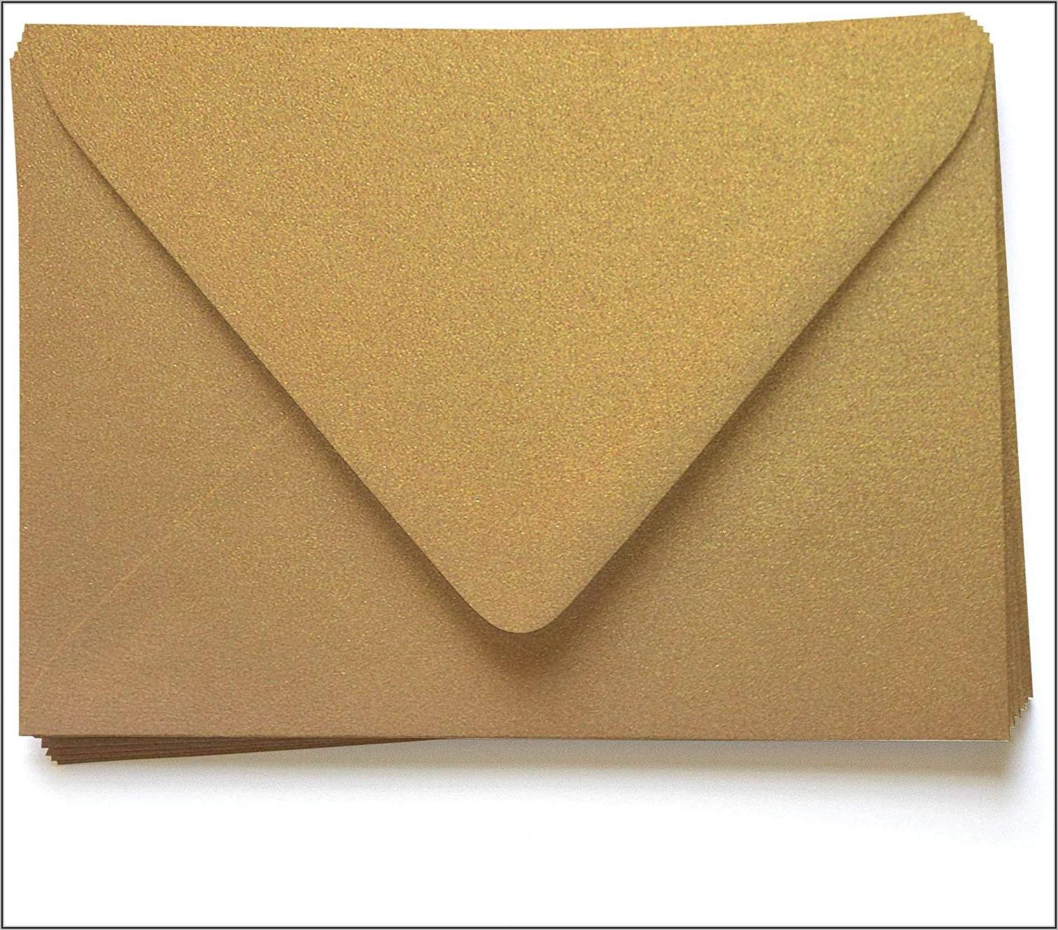 Gold Metallic A7 Envelopes