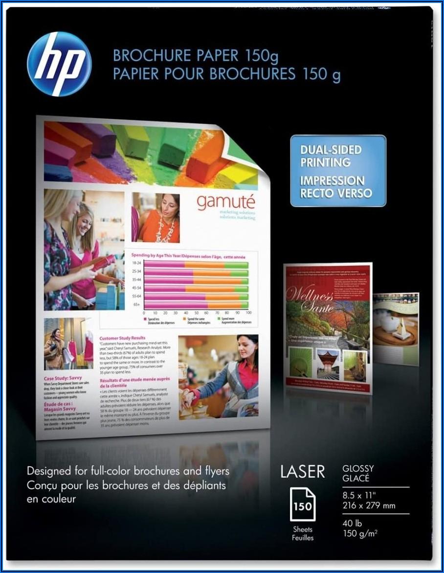 Hp Laser Glossy Brochure Paper
