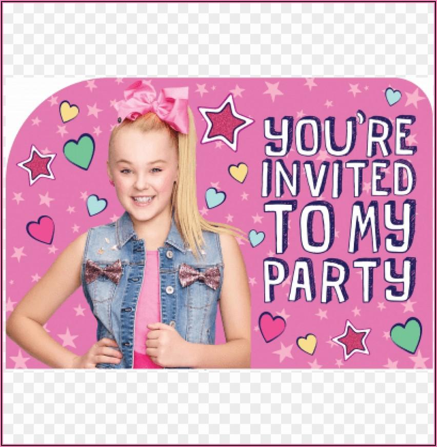 Jojo Siwa Birthday Invitations Free