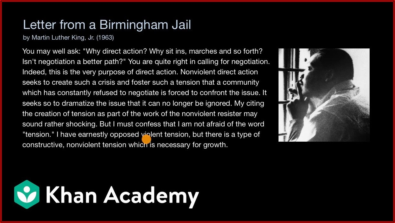 King Letter From Birmingham Jail Sparknotes