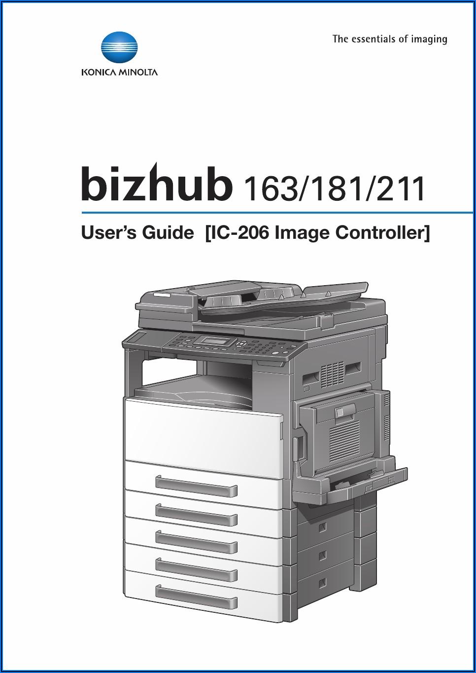 Konica Minolta Bizhub C258 Manual
