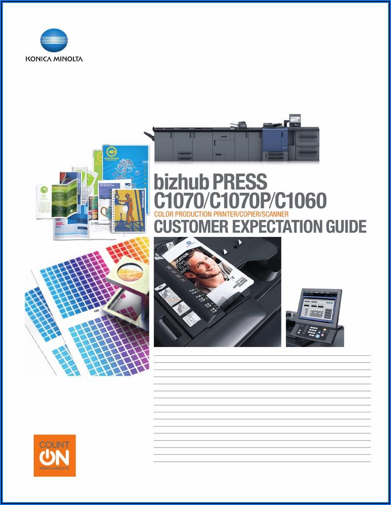 Konica Minolta Bizhub Press C1070 Brochure