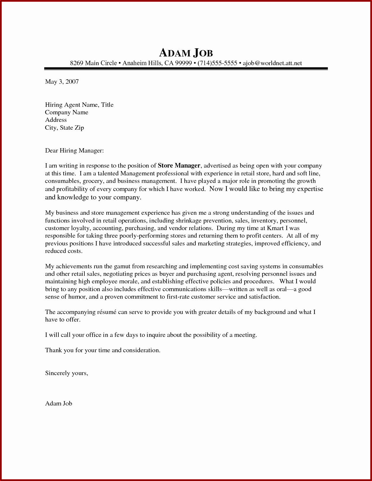 Latex Cover Letter Template Overleaf