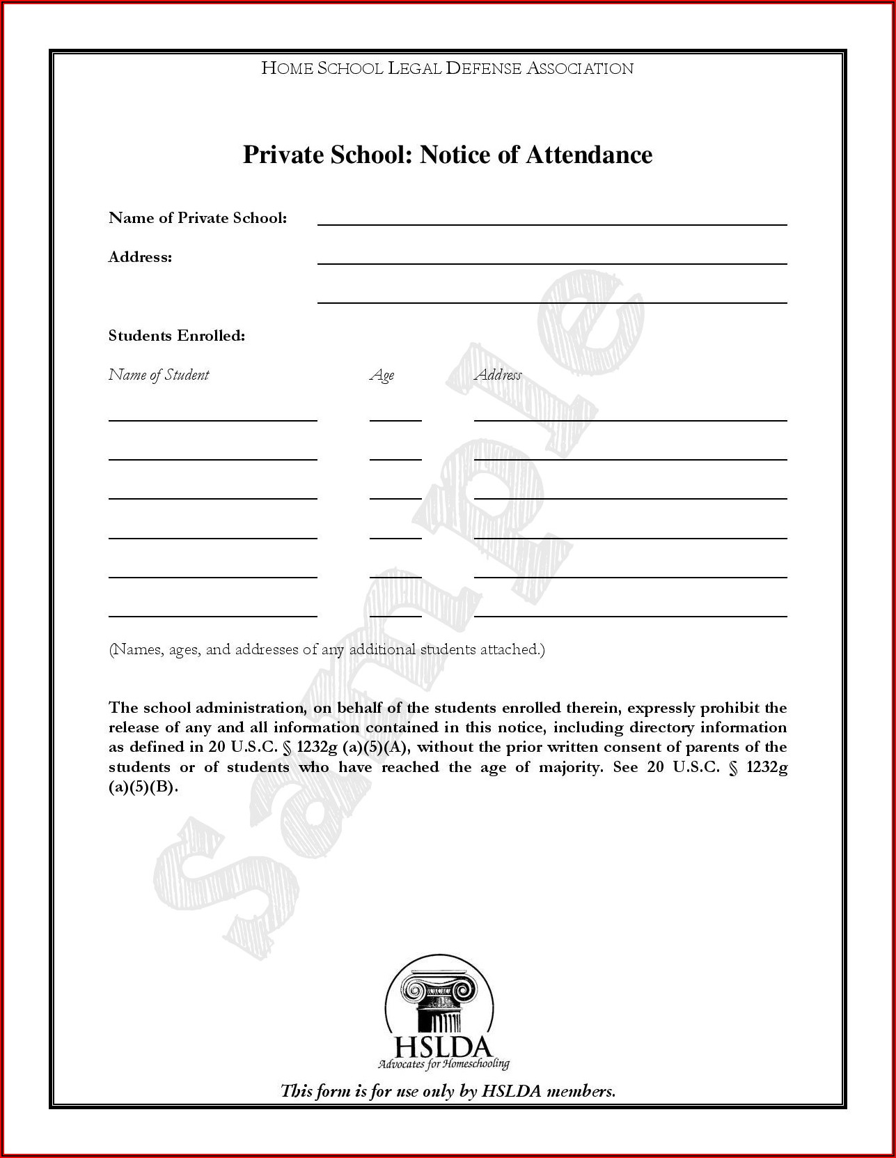 Letter Of Intent To Homeschool Ky