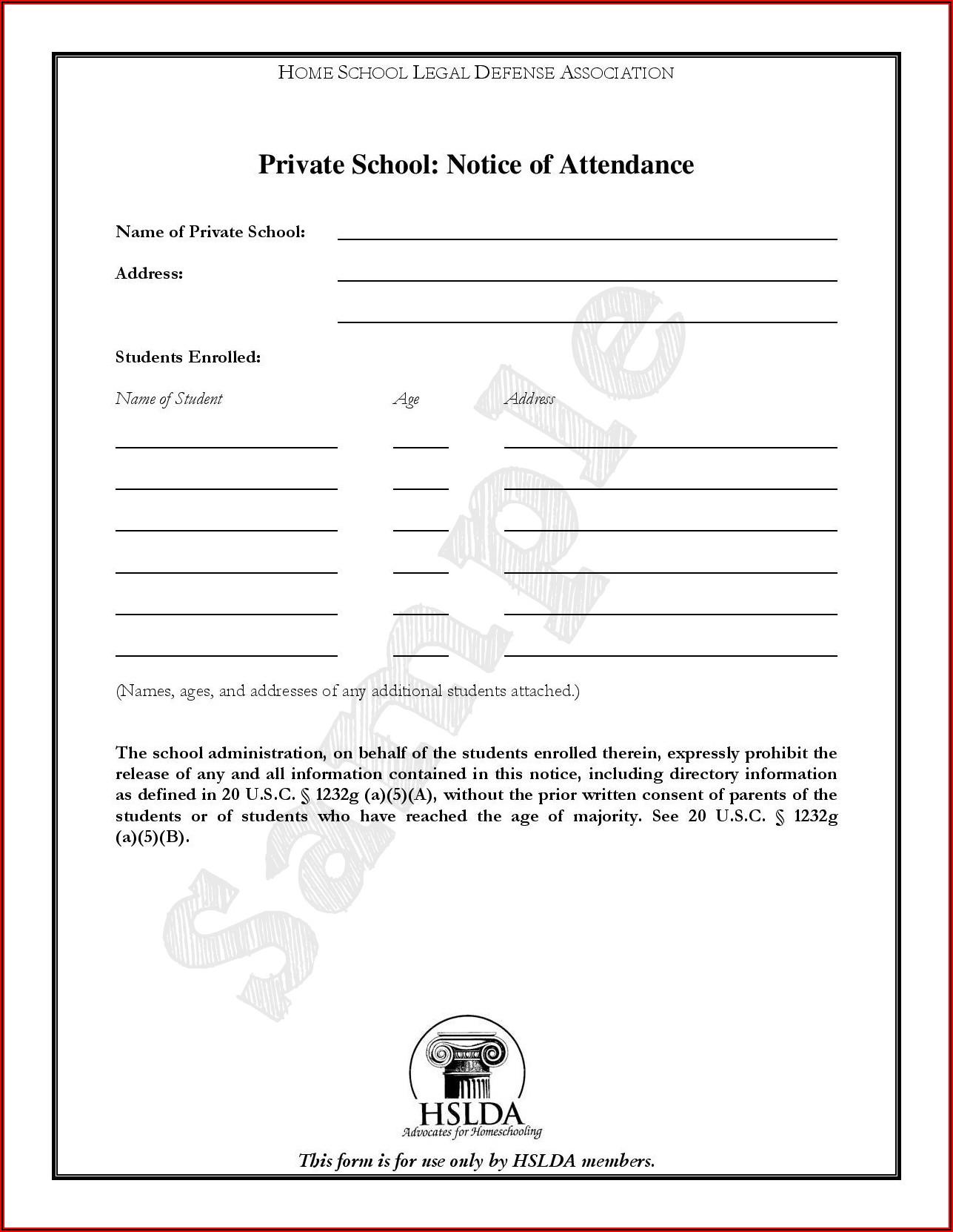 Letter Of Intent To Homeschool Massachusetts