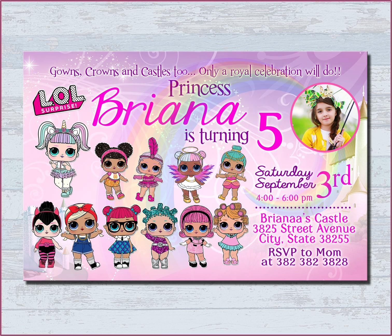 Lol Doll Birthday Invitation