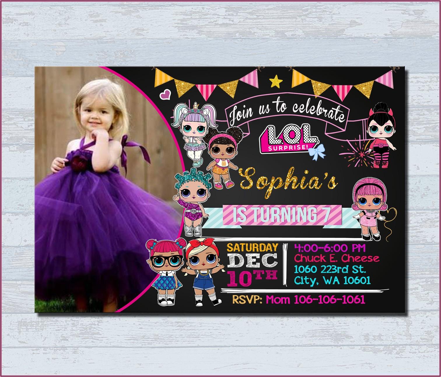 Lol Doll Birthday Invitations