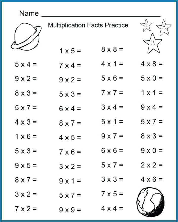 Math Worksheets 2 Times Tables