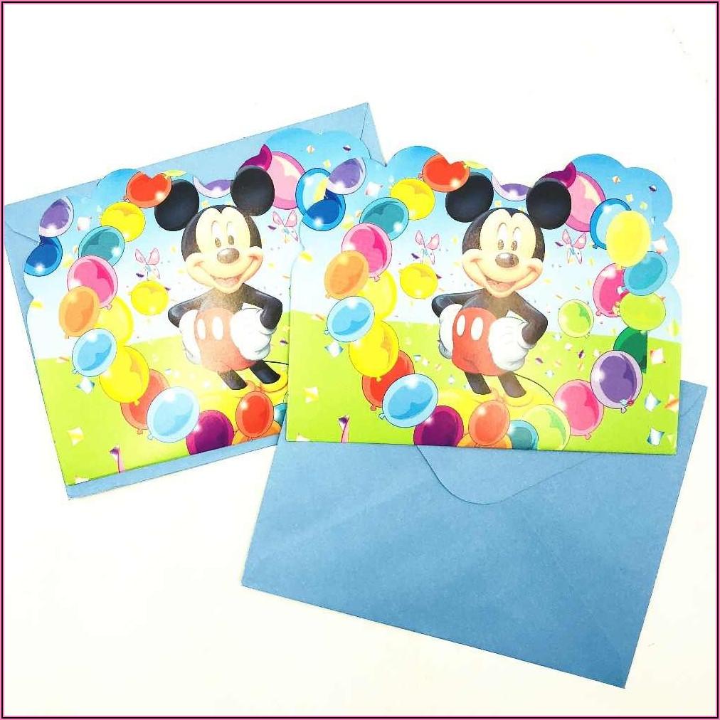 Mickey Mouse 1st Birthday Invitation Ideas