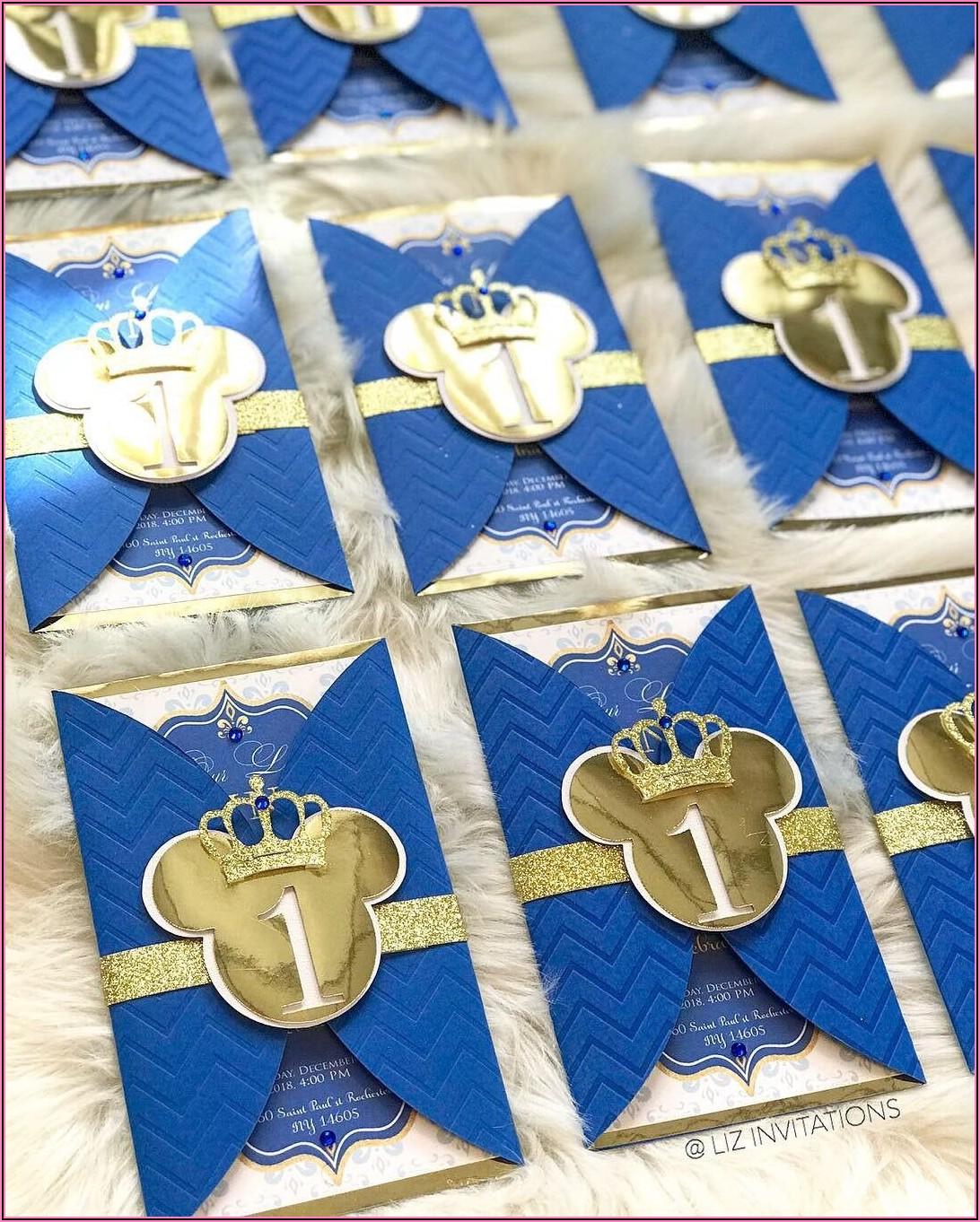 Mickey Mouse 1st Birthday Invitations Etsy