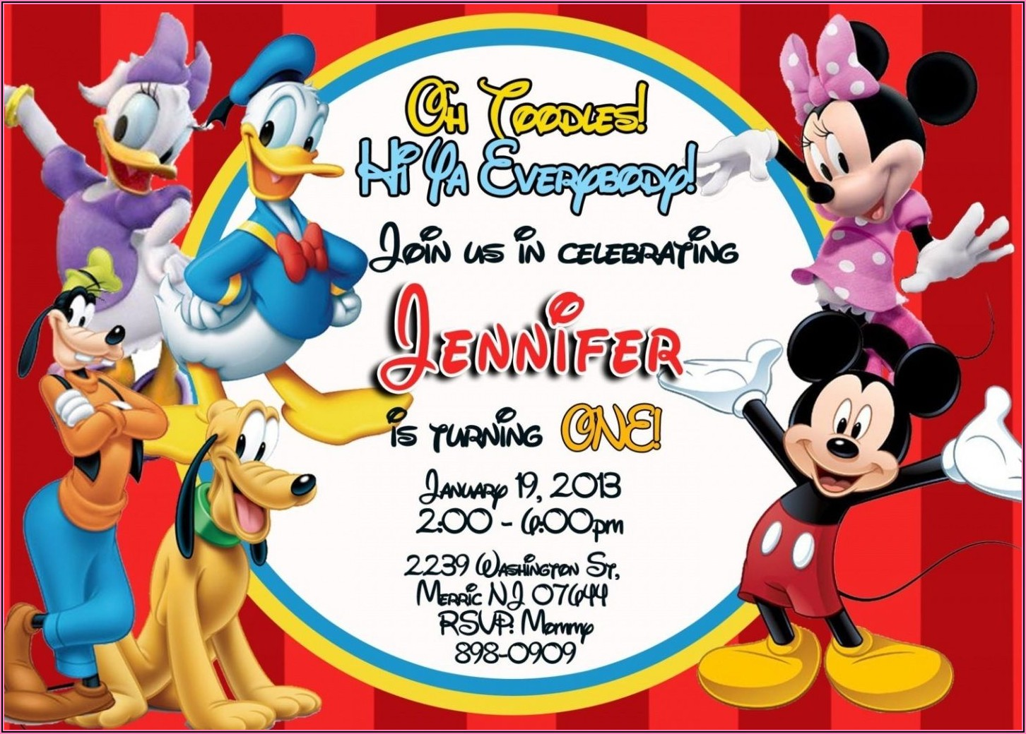 Mickey Mouse Clubhouse Invitations