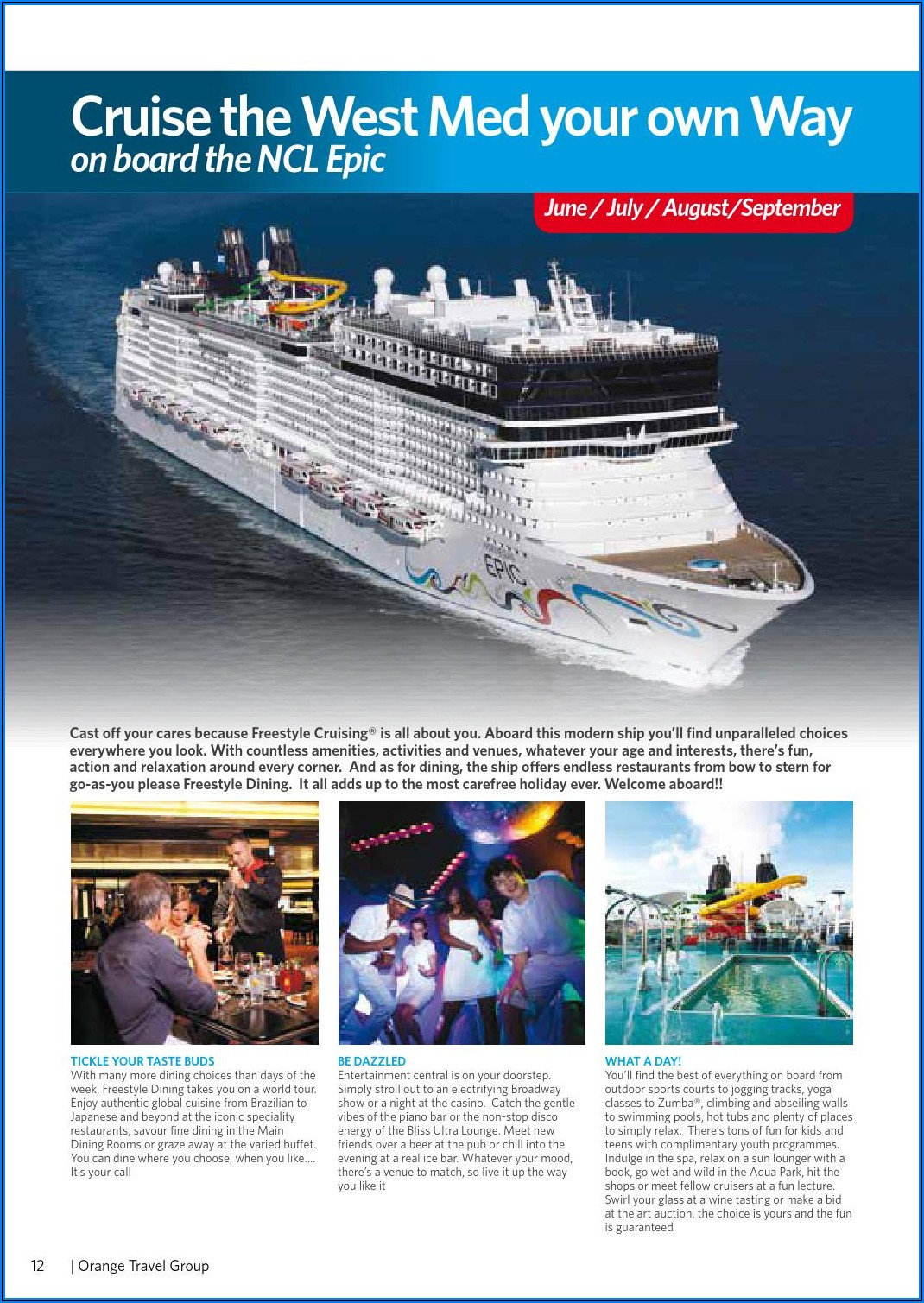 Ncl Welcome Aboard Booklet