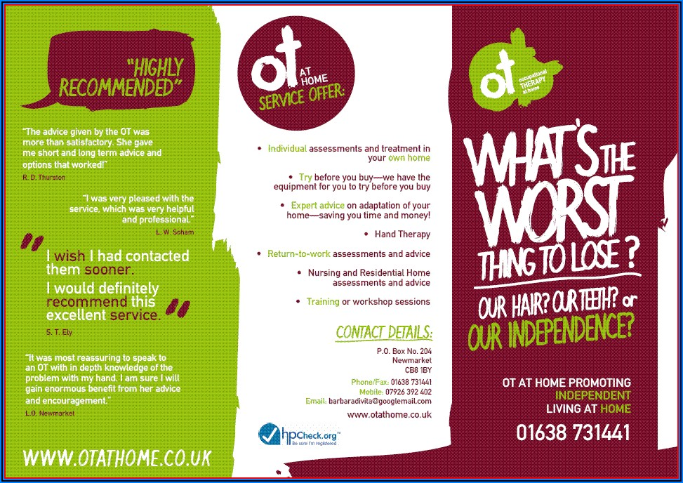 Occupational Therapy Brochure Template