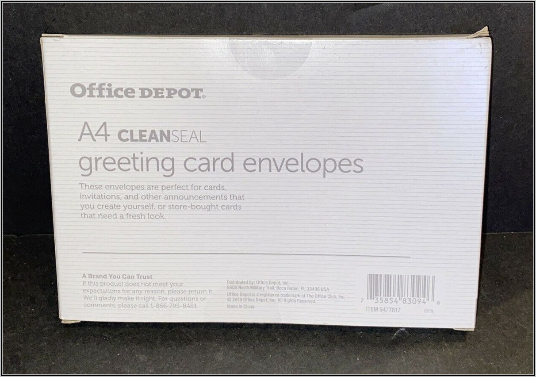 Office Depot Colored Envelopes