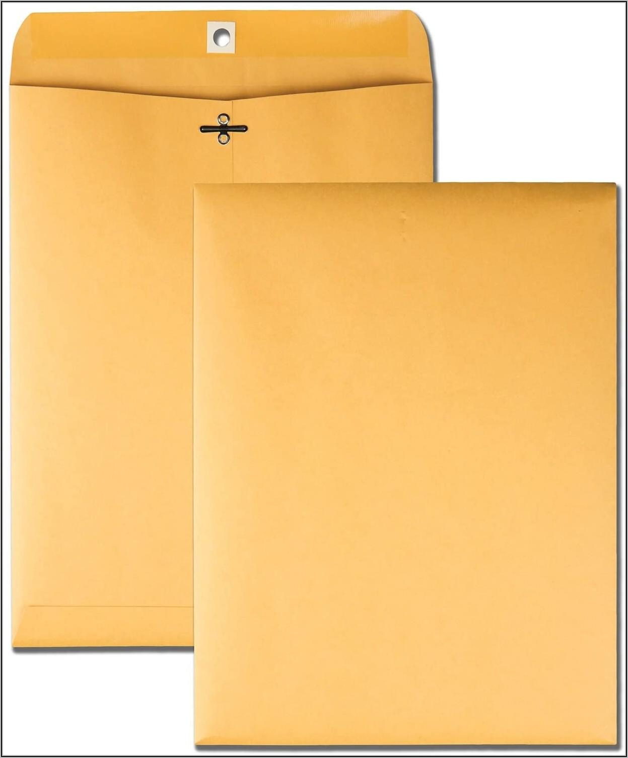 Office Depot White Clasp Envelopes