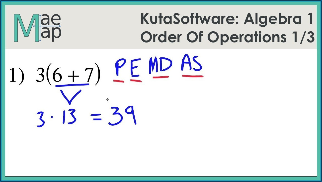 Order Of Operations With Fractions Worksheet Kuta