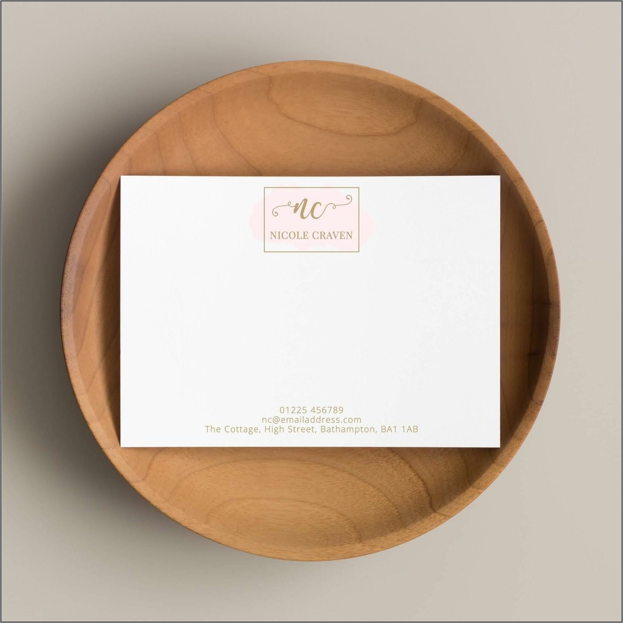 Personalised Note Cards And Envelopes