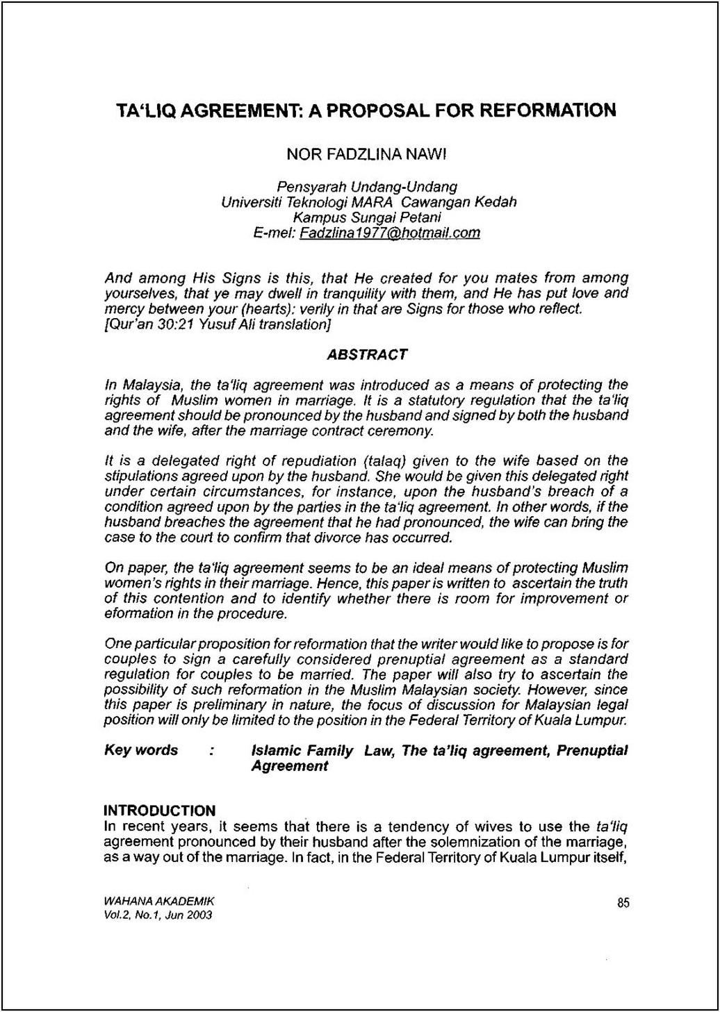 Pre Nuptial Enquiry Form Ireland