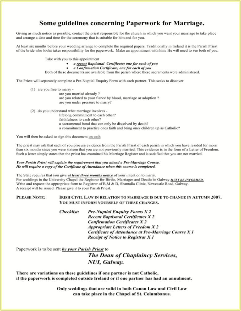 Pre Nuptial Enquiry Form Pdf