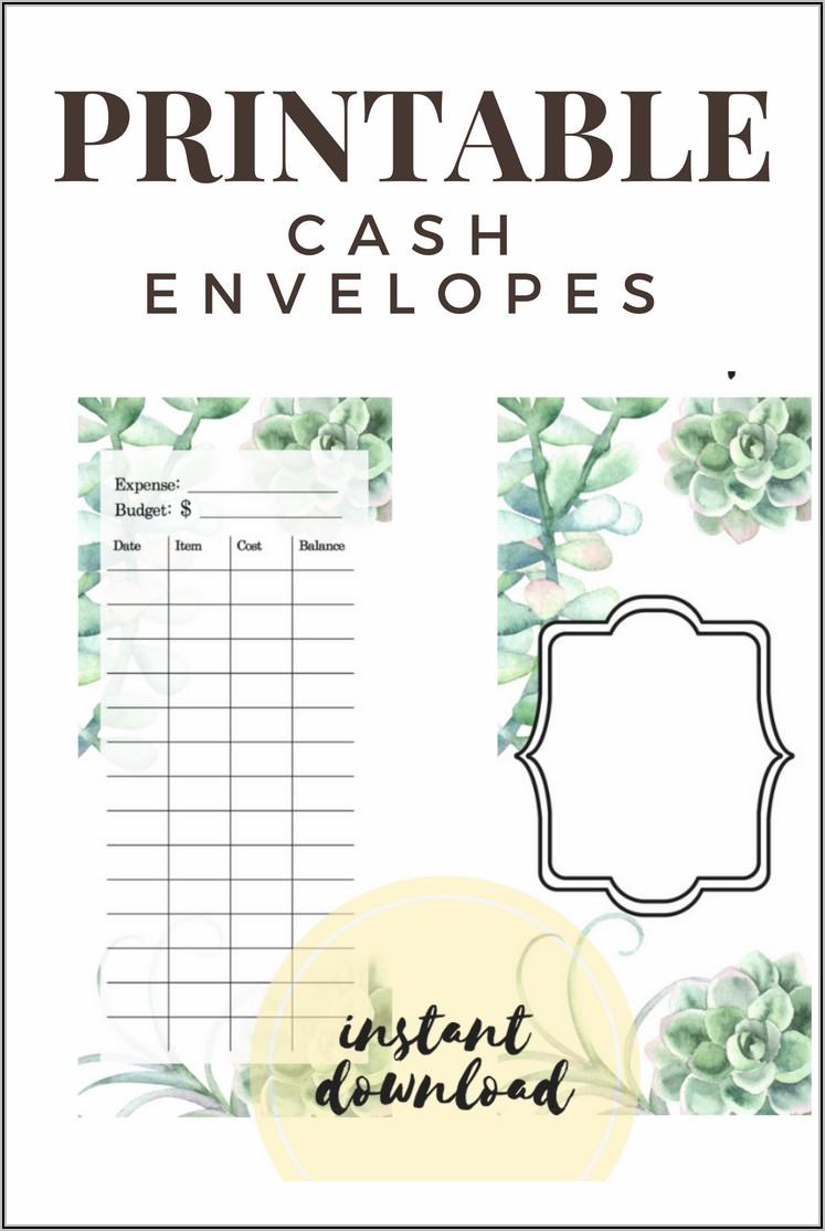 Printable Cash Budget Envelopes
