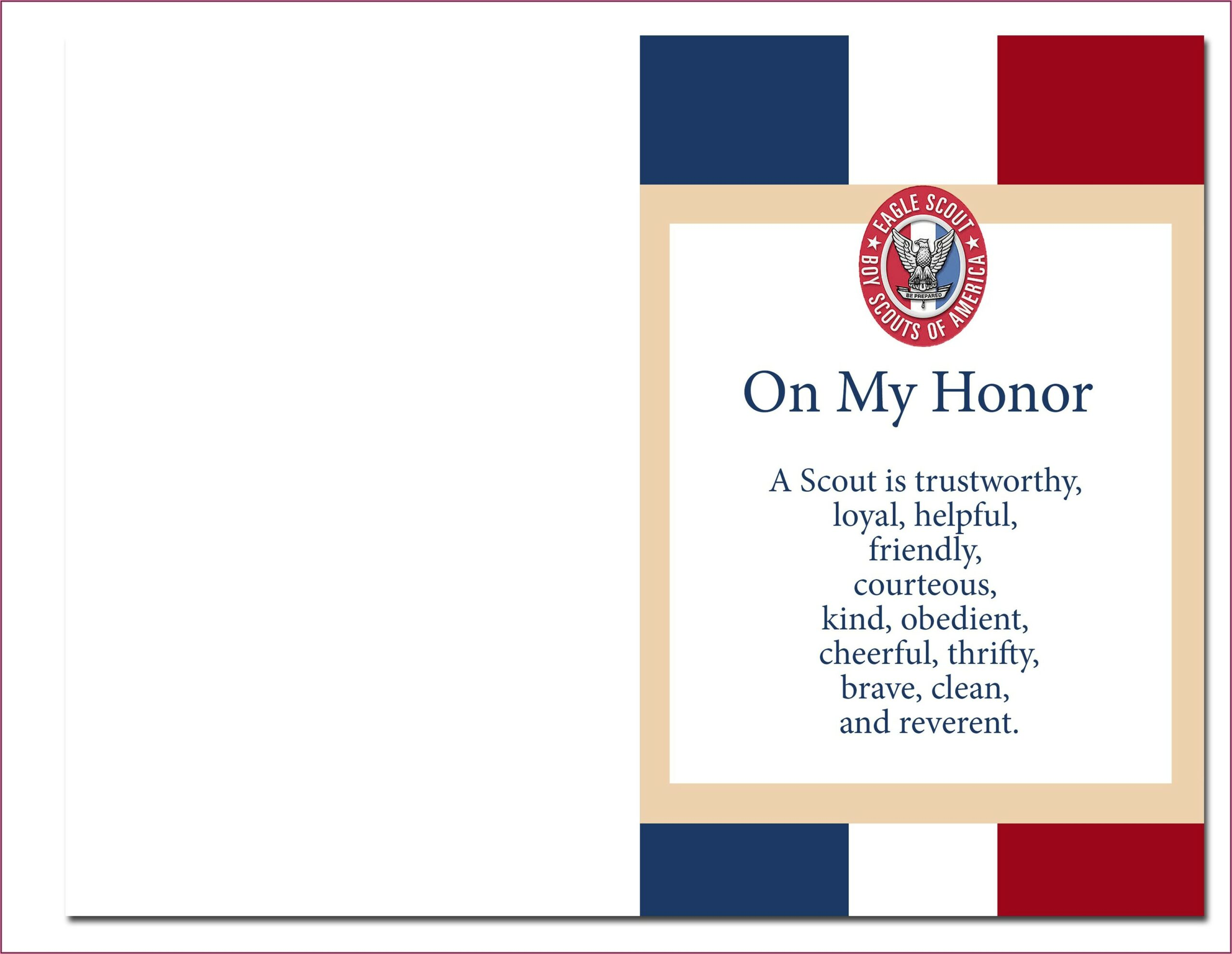 Printable Eagle Scout Court Of Honor Invitations