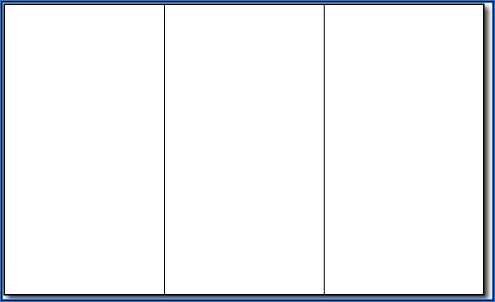 Printable Tri Fold Brochure Template