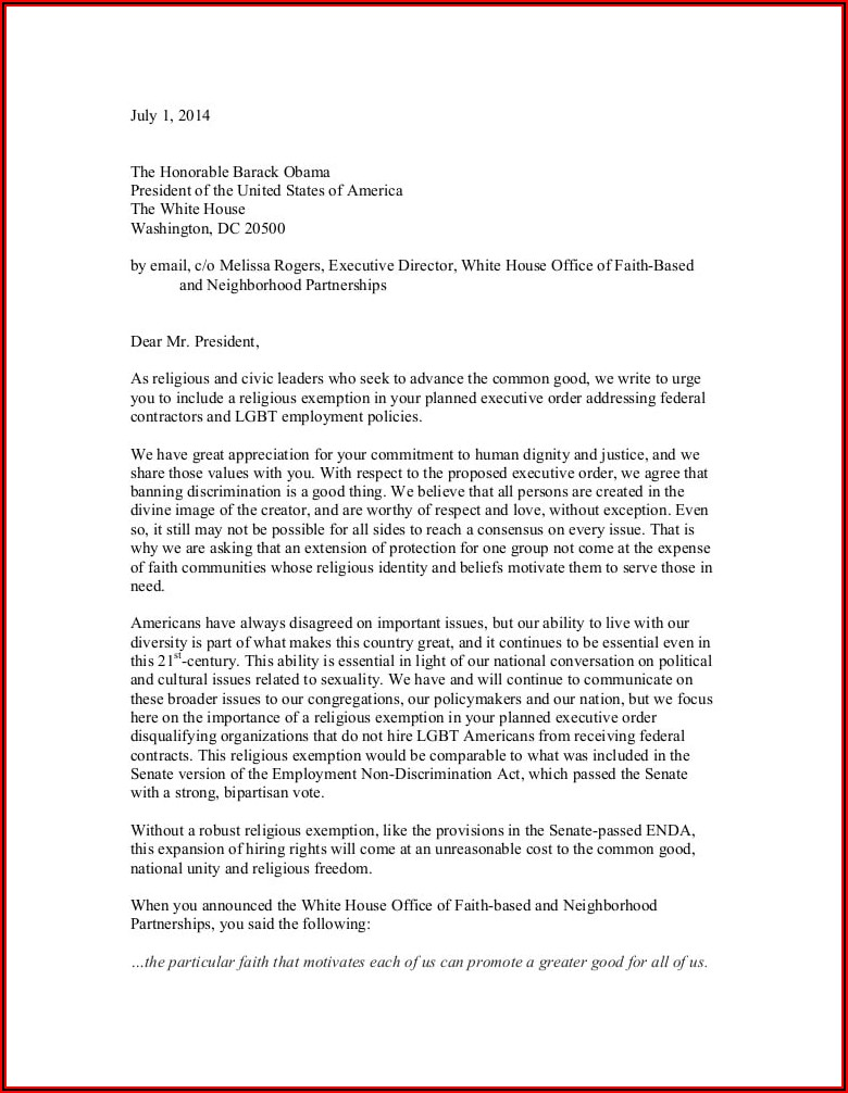 Religious Exemption Vaccination Letter