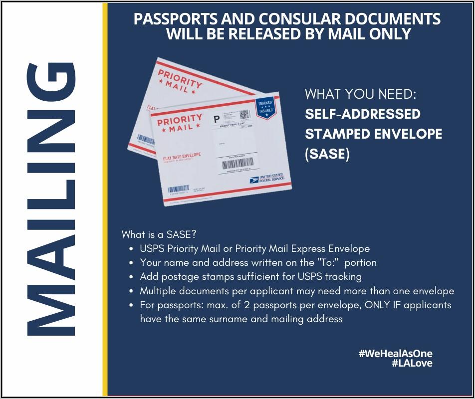 Self Addressed Stamped Envelope For Passport